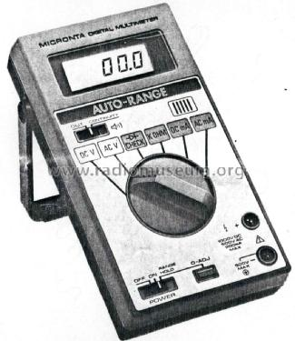 Micronta Auto Range Digital Multimeter 22-192; Radio Shack Tandy, (ID = 2257806) Equipment