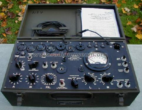 Tube Tester I-177; MILITARY U.S. (ID = 391882) Equipment