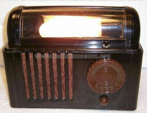 "Mitchell Mfg.  Co.;: 1250  ""Lullaby "" Bed Lamp Radio Radio ID."