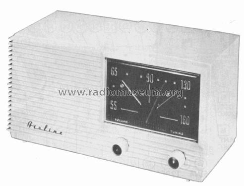 Airline GSE-1625A; Montgomery Ward & Co (ID = 2330251) Radio
