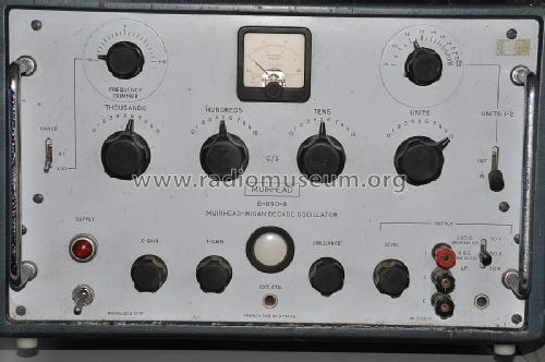 Decade Oscillator D-890-A; Muirhead & Co. Ltd., (ID = 1443357) Equipment