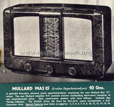 MAS15; Mullard Wireless, (ID = 1226096) Radio