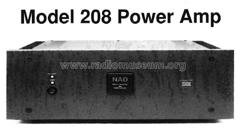 Power Amplifier 208; NAD, New Acoustic (ID = 1857230) Ampl/Mixer