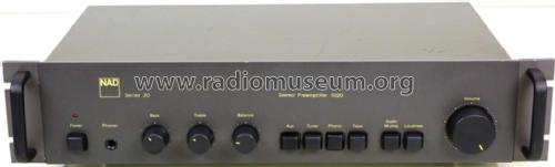Stereo PreAmplifier 1020 Series 20; NAD, New Acoustic (ID = 2382794) Ampl/Mixer