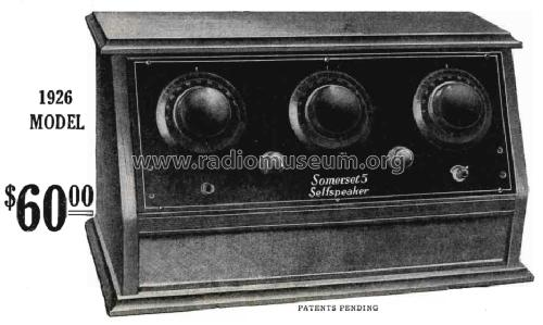 Somerset Self-Speaker 1926 Model 5; National Airphone (ID = 1544786) Radio