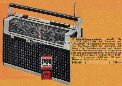 Capri art nr 949 426 radio neckermann versand kg frankfur for Versand katalog
