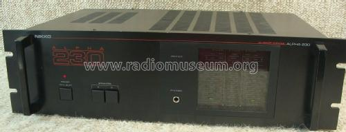 Stereo Power Amplifier Alpha 230; Nikko Electric (ID = 1998005) Ampl/Mixer
