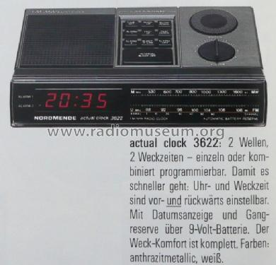 Actual Clock 3622; Nordmende, (ID = 894336) Radio
