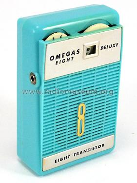 De Luxe Eight Transistor ; Omegas; brand? where (ID = 2292444) Radio