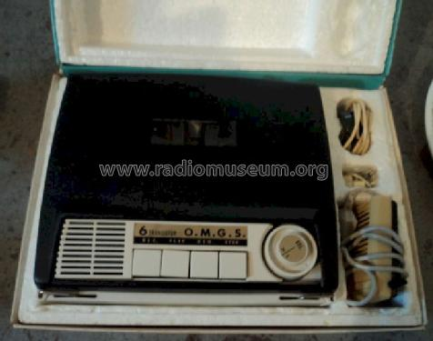 Push Button 6 Transistor Tape Recorder S-611; OMGS, O.M.G.S; where (ID = 1339036) R-Player