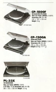 Direct Drive Fully Automatic Turntable CP-1500F; Onkyo, Osaka Denki (ID = 2067973) R-Player