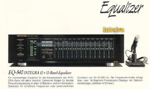 Onkyo EQ-540-12 Band Graphic Equalizer in Schwarz