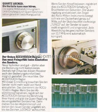 Quartz Locked Stereo Receiver TX-4500 Radio Onkyo