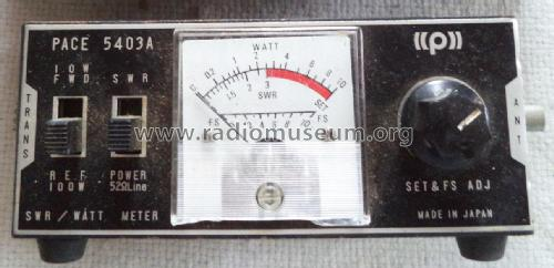 SWR Bridge Power meter & Field Strength Indicator P-5403A; Pace Communications; (ID = 1943690) Equipment