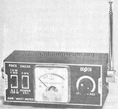 Pace Communications;: SWR Bridge Power meter & Field Strength Indicator P-5403A Equipment ID.  942084 900x827.