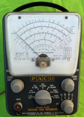 Vacuum Tube Voltmeter V-70; PACO Electronics Co. (ID = 2553903) Equipment