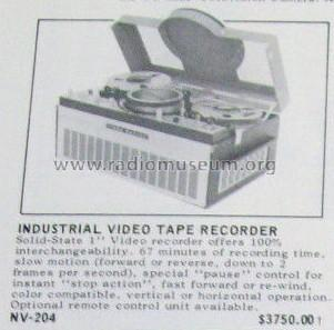 Panasonic - Industrial Video Tape Recorder NV-204; Panasonic, (ID = 1816847) Reg-Riprod