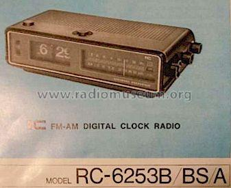 FM-AM Clock Radio RC-6253A; Panasonic, (ID = 1216554) Radio