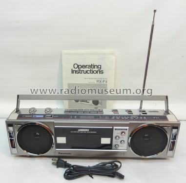FM-AM-FM Stereo Radio Cassette Recorder RX-F4; Panasonic / National (ID = 1218929) Radio