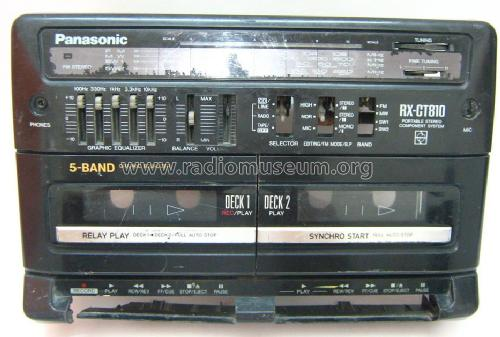Portable Stereo Component System RX-CT810; Panasonic, (ID = 1457006) Radio