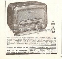 pns 178 rc radio parinor pi ces paris build 1952 1 pictur. Black Bedroom Furniture Sets. Home Design Ideas