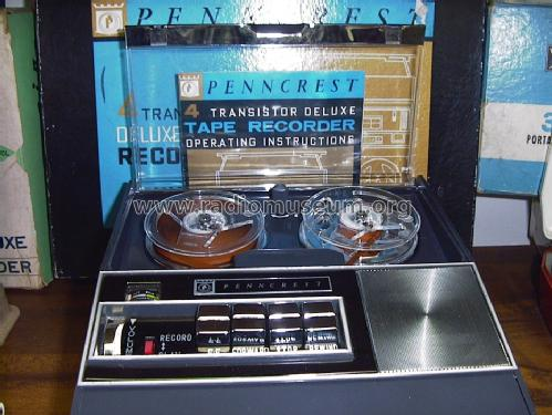 Penncrest 4 Transistor Deluxe Tape Recorder ; JCPenney, Penney's, (ID = 1477142) R-Player