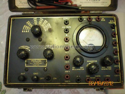 All Purpose Set Tester 048; Philco, Philadelphia (ID = 1171780) Equipment