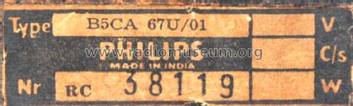 B5CA67U /01; Philips; Calcutta (ID = 1085359) Radio