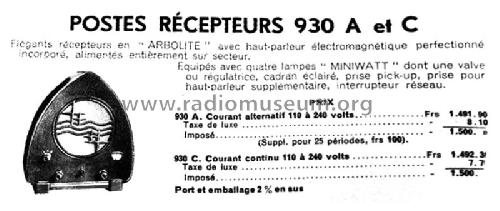 930A 'Boîte à Jambon'; Philips France; (ID = 2498320) Radio
