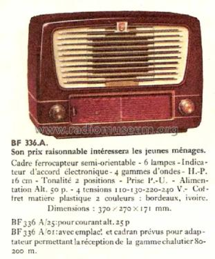 BF336A /01; Philips France; (ID = 1487636) Radio