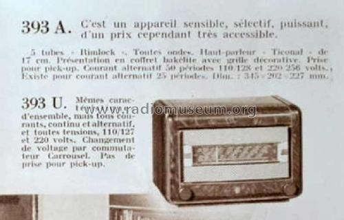BF393U; Philips France; (ID = 1976013) Radio