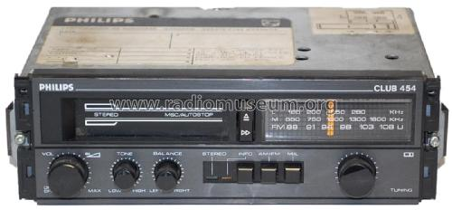 Club 454 22DC454 /02 /02B /78; Philips France; (ID = 1835381) Car Radio