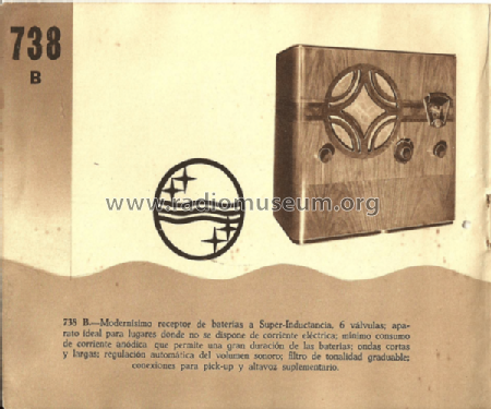 738B; Philips Ibérica, (ID = 1995687) Radio
