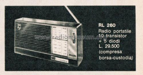 19RL260; Philips Italy; (ID = 2612018) Radio