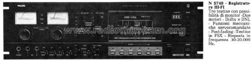 HiFi Cassette Deck N5748 /00; Philips Belgium (ID = 954301) R-Player