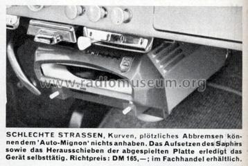 Auto-Mignon MK60T R-Player Philips Radios - Deutschland, bui
