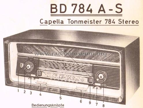 Capella-Tonmeister 784 Stereo BD784A-S; Philips Radios - (ID = 2400147) Radio