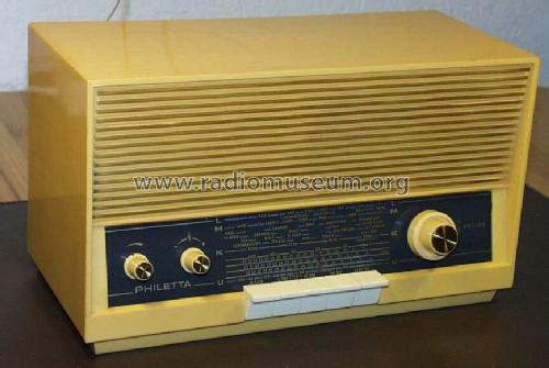 Philetta 12RB273; Philips Radios - (ID = 39321) Radio