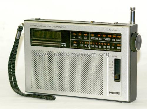 portable clock radio 90as100 radio philips radios deutschl rh radiomuseum org Philips Portable Speakers Home Loudest Portable Radio