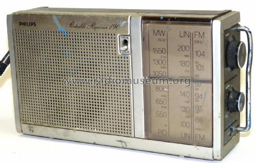 Portable Receiver 190 90al190  00 Radio Philips Radios