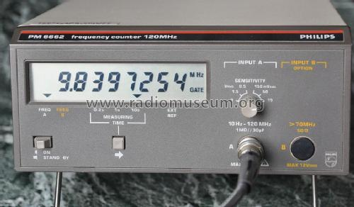 Frequency Counter 120 MHz PM6662/011; Philips, Svenska AB, (ID = 1157159) Equipment