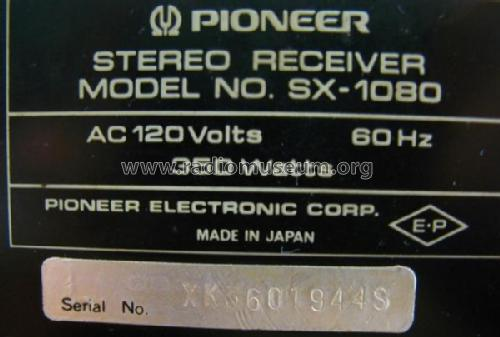 Stereo Receiver SX-1080 Radio Pioneer Corporation