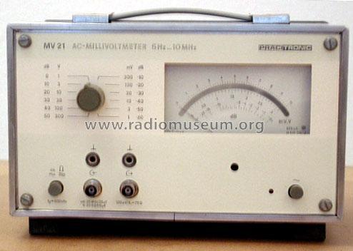 AC-Millivoltmeter MV21 Equipment Präcitronic Dresden,
