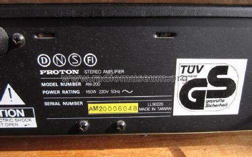 Stereo Amplifier AM-200 Ampl/Mixer Proton Electronic