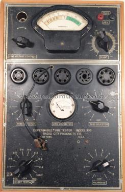 Tube Tester 305; Radio City Products (ID = 2090607) Equipment