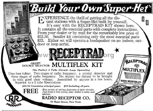 Receptrad Super-Het Kit ; Radio Receptor Co. (ID = 1102631) Kit