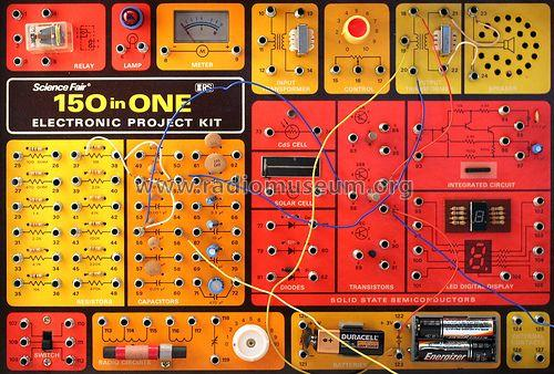 150 in One Electronic Project Kit Kit Radio Shack Tandy,