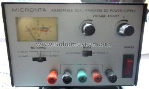 Micronta Adjustable Dual-Tracking DC Power Supply Cat. No. 22-121; Radio Shack Tandy, (ID = 1188161) Power-S