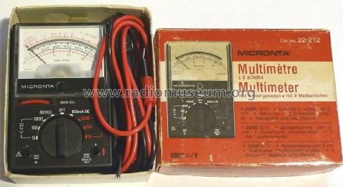 Micronta Multimeter 22-212; Radio Shack Tandy, (ID = 1011297) Equipment