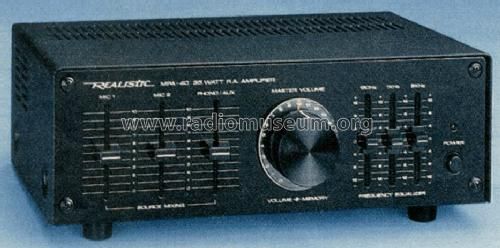Realistic 35 Watt P.A. Amplifier MPA-40 Model No. 32-2032A; Radio Shack Tandy, (ID = 1348973) Ampl/Mixer